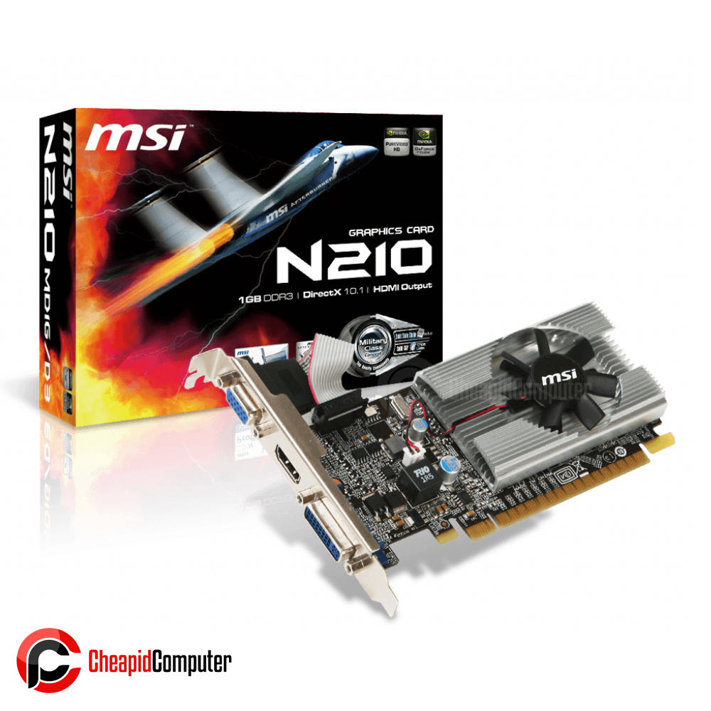 Video Card MSI GeForce N210-MD1G/D3 GT 210 1GB DDR3 64bit