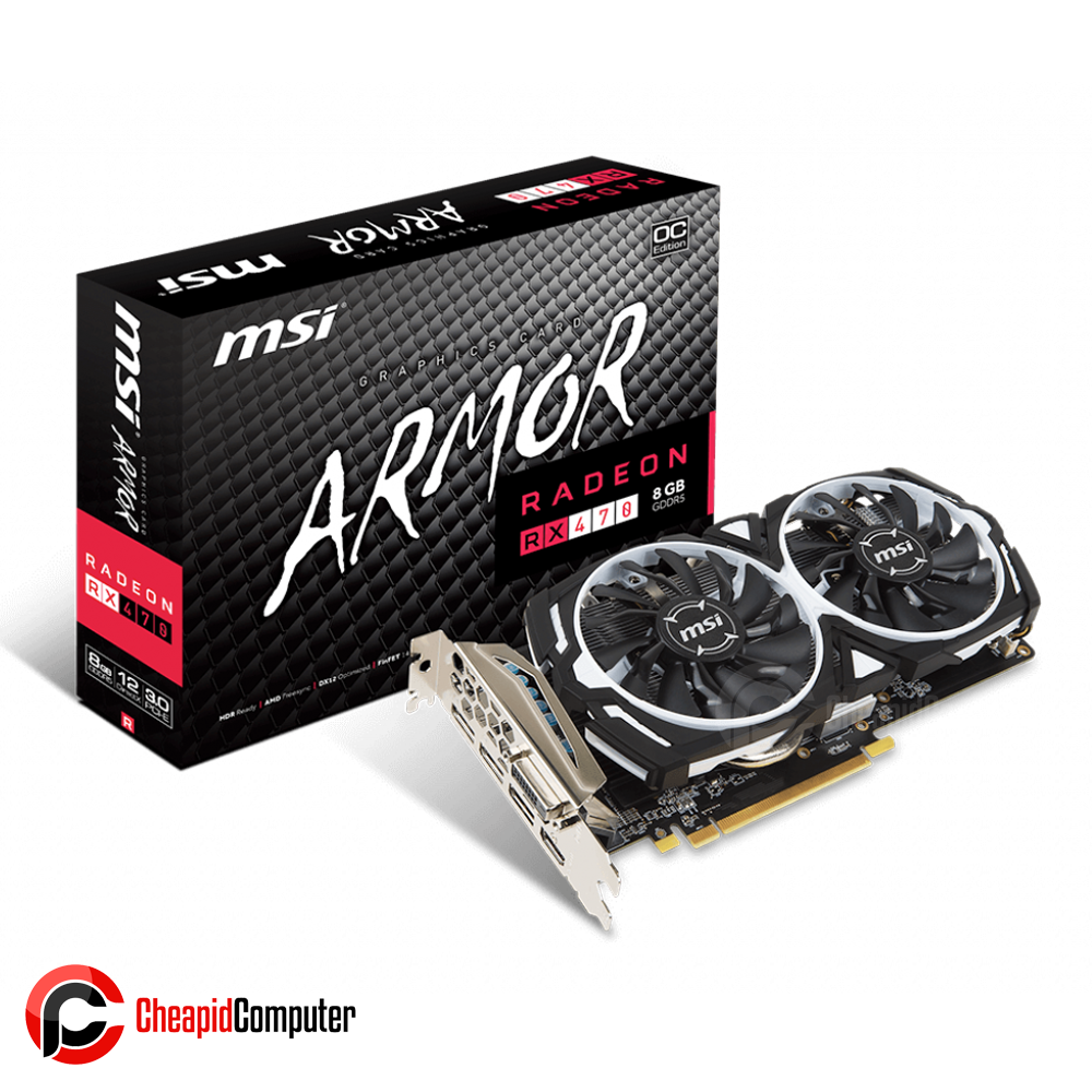 Video Card MSI Radeon RX 470 Armor 8G OC 8GB GDDR5 256bit