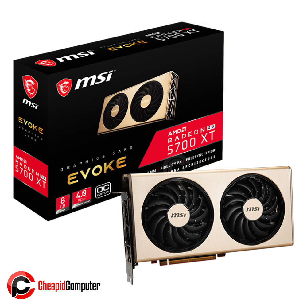 Video Card MSI Radeon RX 5700 XT EVOKE OC 8GB GDDR6 256bit
