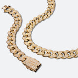 Cuban ICE Chain and Bracelet Set 19mm