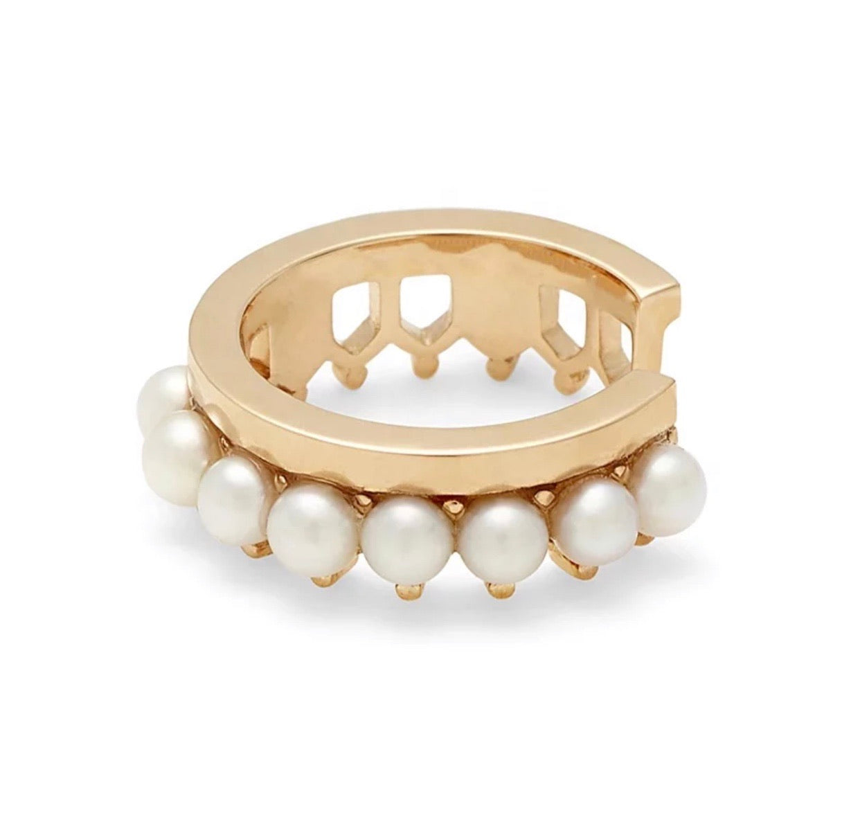Pearl Crown Cuff
