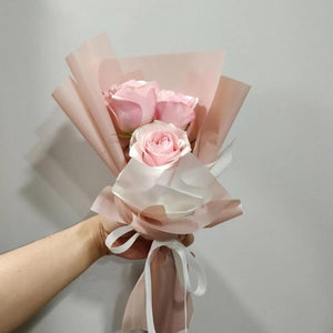 3 Stalk Rose Bouquet