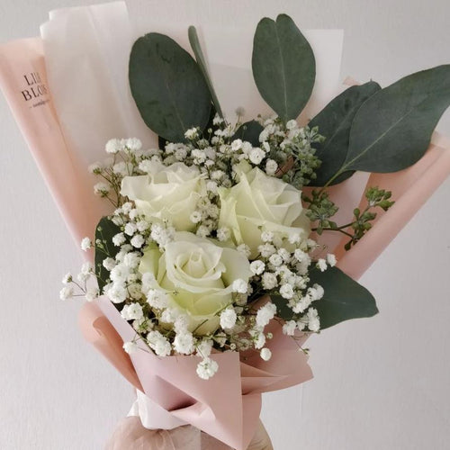 I Love You 3 Stalk Rose Bouquet