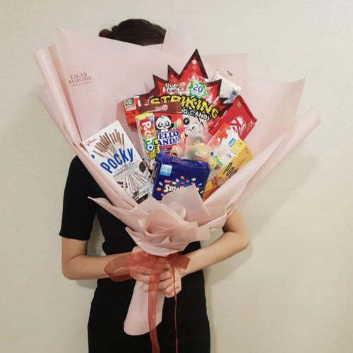 Candies and Chocolates Snack Bouquet