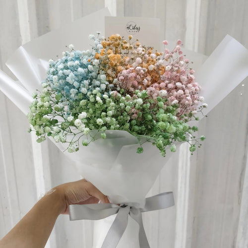 Colourful Baby Breath Bouquet