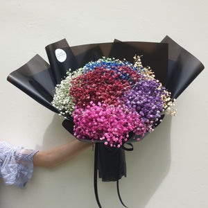 Rainbow Baby Breath Bouquet