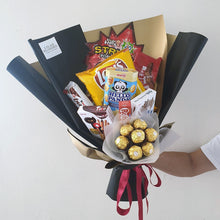 Load image into Gallery viewer, snack bouquet for males