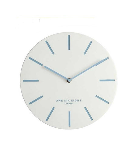 CHLOE White 30cm Silent Wall Clock