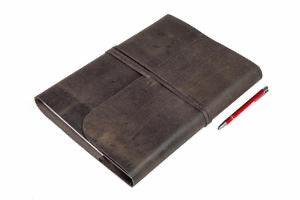 Journal Refillable hardcover A4 Charcoal