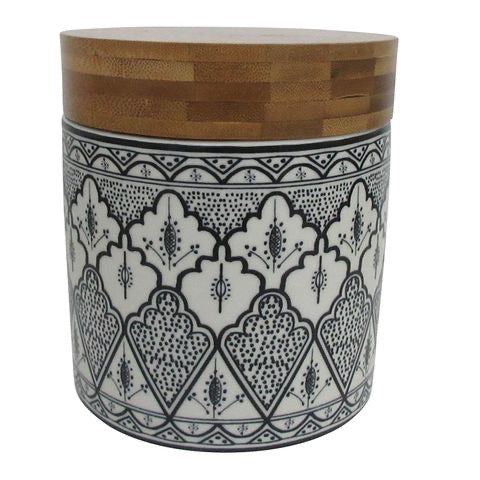 Aleah Ceramic & Wood Canister
