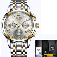 Mens Sports Watches Waterproof Full Steel Quartz Watch
