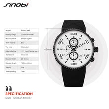Sports Watches Mens Stopwatch 30m Waterproof