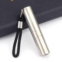 Metal Cigar Punch Cutter Silver Stainless Steel Puncher