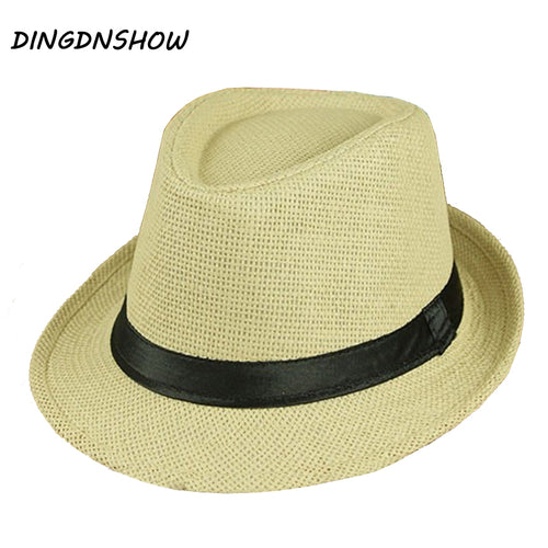 Jazz Summer Vintage Floppy Panama Straw Hat