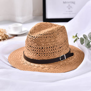 Fedora Panama Hats with Belt Handmade Wide Brim