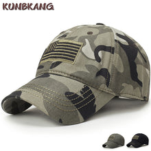 USA Flag Camouflage Baseball Cap Army Embroidery Cotton Tactical Snapback