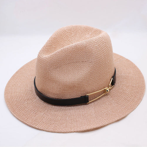 Grass Yarn Panama Sun Hat