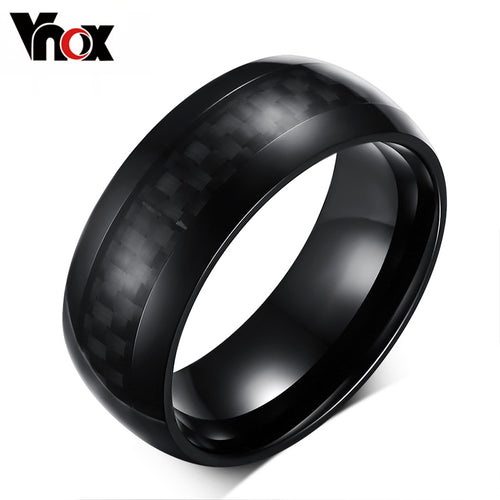 Mens Rings Jewelry 8mm Wide Carbon Fiber
