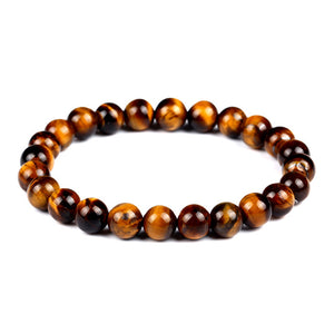 Fashion Tiger Eye Love Buddha Bracelet Elastic Rope Chain Lava Stone Bracelets