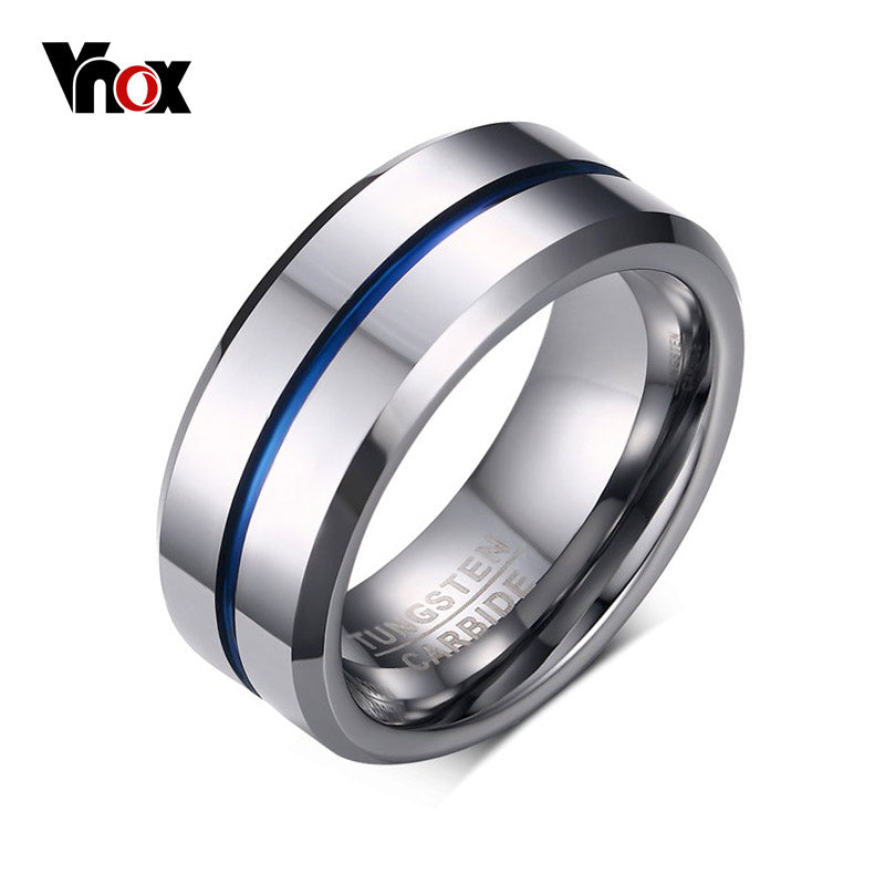 100% Tungsten Carbide Rings for Men 8mm