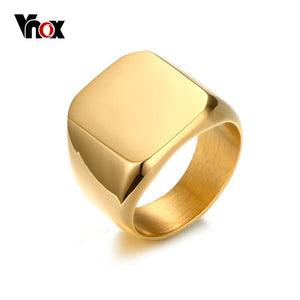 18mm Men's Stainless Steel Big Rings Silver Black Gold-color