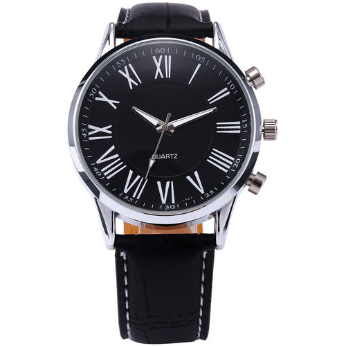 Stainless steel Analog Quartz Mens Wrist Watch Business Casual Watches