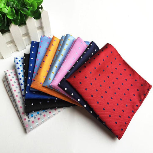 Silk Dot Pattern Handkerchief Pocket Square