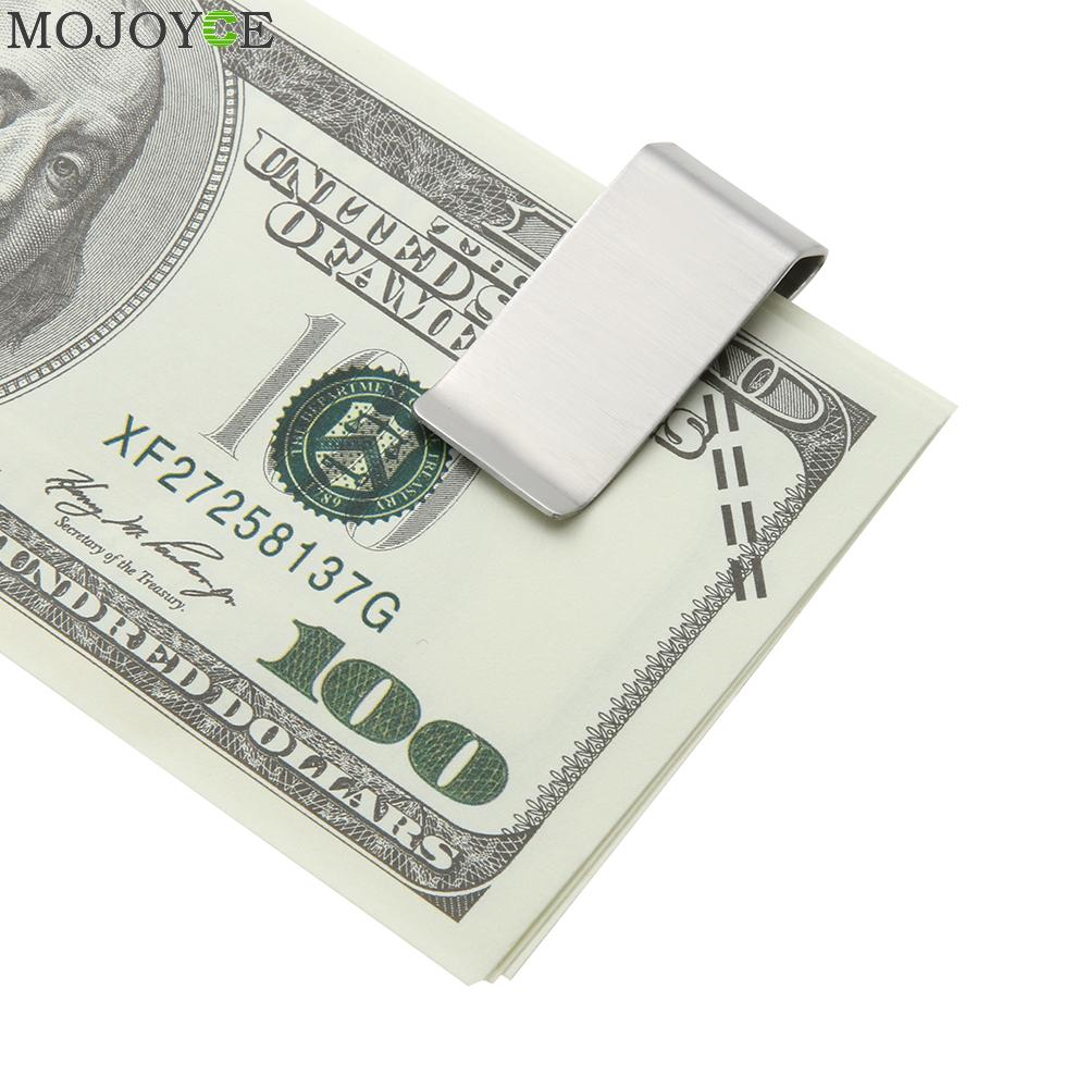 High Quality Stainless Steel Mens Money Clip Wallet Card Folder Holder