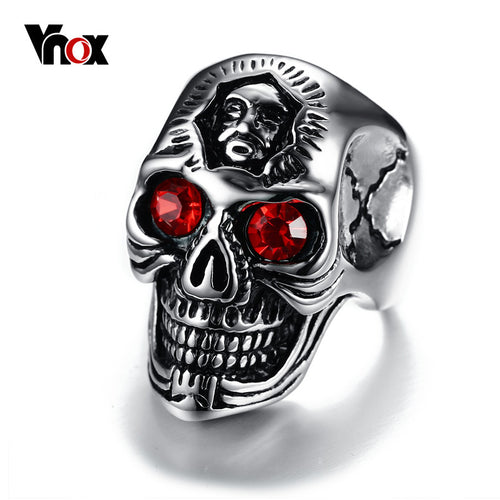 Skull Ring Hiphop Stainless Steel Skeleton Rings for Men
