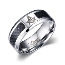 Men Ring Stainless Steel & Carbon Fiber Jewelry