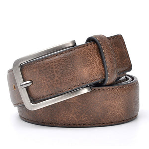 Casual Genuine Leather Pin Buckle Belt