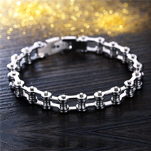 Modern Refined Stainless Steel Bracelet Bike Chain