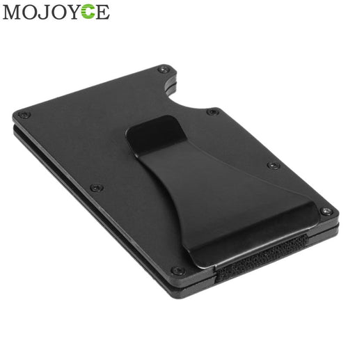 Aluminum Black Money Clip ID Card Case