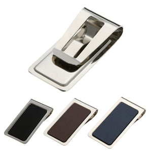 Stainless Steel Men Wallet  Folder Hollow Design Card ID Case Wallet