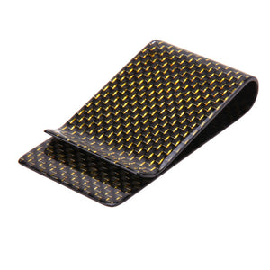 Real Carbon Fiber Money Clip Wallet Men Business Card & Credit Card Cash Wallet