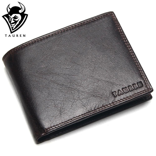 Small Vintage Genuine Leather Cowhide Casual Wallet