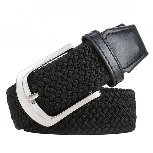 Braised Canvas Stretch Alloy Pin Buckle Belt