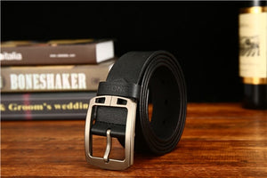 Antique Genuine Leather Wide Waist Pin Buckle
