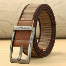 Casual Canvas Knitted alloy Pin Buckle Belt