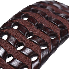 Braided Knitted Genuine Leather Belt