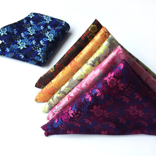 Silk Paisley Flower Hankerchief Pocket Square