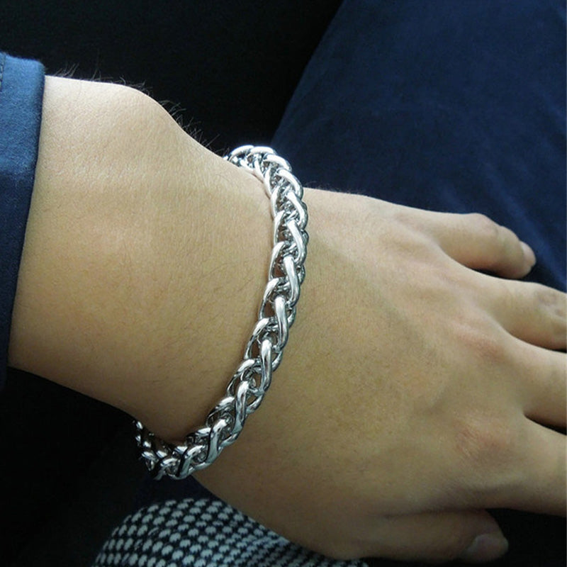 Stainless Steel Chain Men's Link Bracelet
