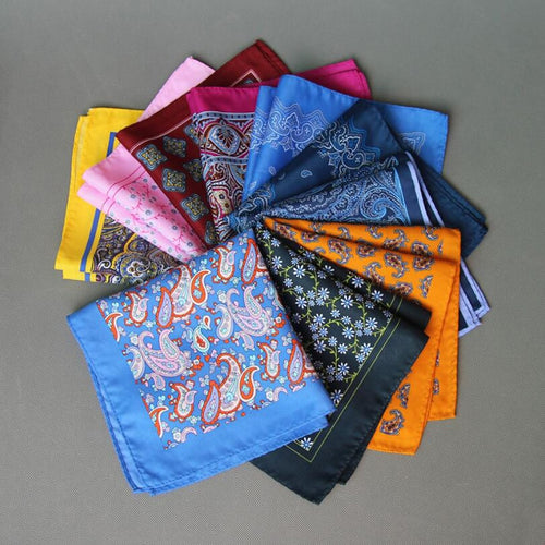 Silk Paisley Assorted Color Handkerchief Pocket Square