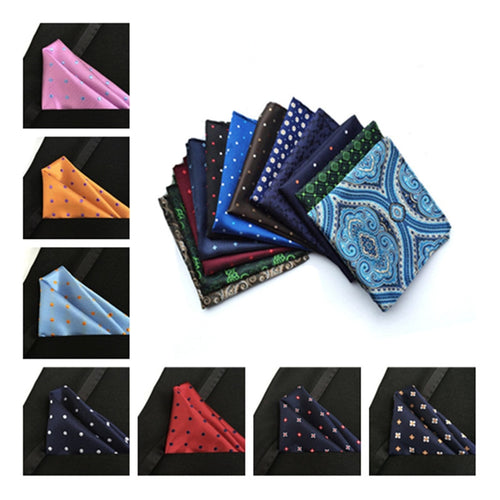 Handmade Silk Dotted Vestido Handkerchiefs Pocket Square