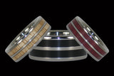 Two and Three Wood Hawaii Titanium Rings®