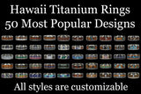 Wood and Stone Hawaii Titanium Ring® Favorites