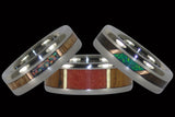 Stone Window Wood Hawaii Titanium Rings® - Earth Collection