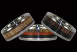 Multiple Wood Design Titanium Rings