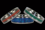 Stone Gem and Mineral Inlay Hawaii Titanium Rings®
