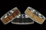 Wood Inlay Ring Collection